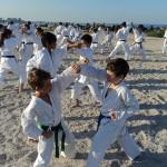 Stagiu de karate SKDUN la malul mării