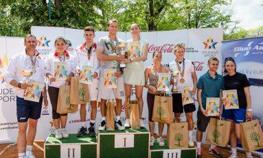 """Universitatea """"Constantin Brâncuși"""" din Târgu Jiu a câștigat Turneul Final de tenis al studenților"""