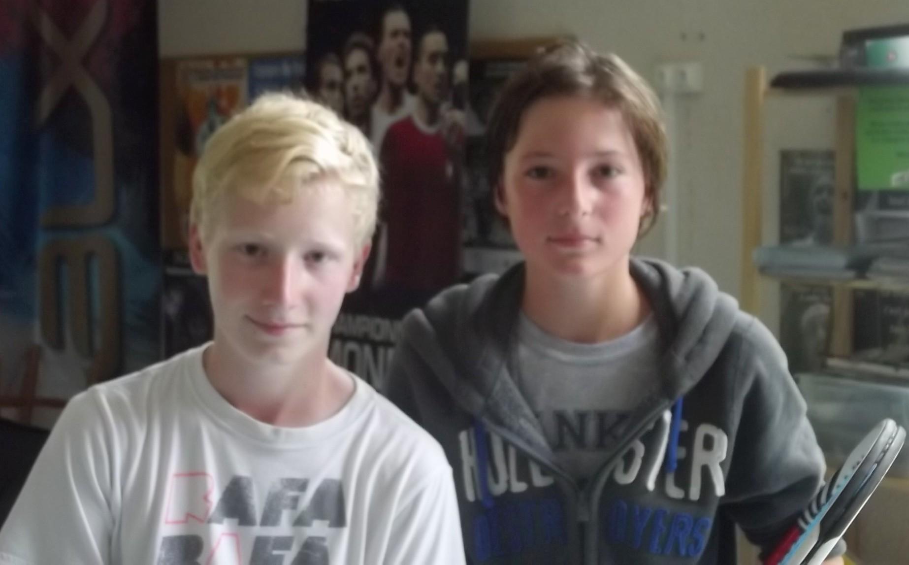 Record mondial doborât în tenis de doi copii francezi