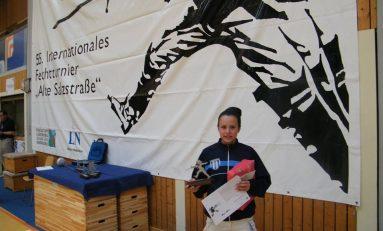 """Alexandra Cîrstea-Ionică, locul 2 la Trofeul internaţional de spadă """"Alte Salzstrasse"""""""