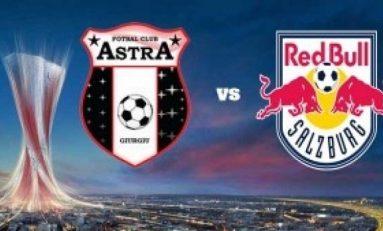 Astra deschide scorul, dar pierde meciul cu Salzburg, rămânând fără victorie