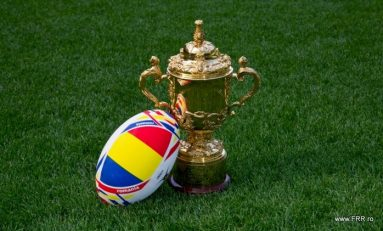 Trofeul Cupei Mondiale de Rugby, pregatit sa viziteze Romania