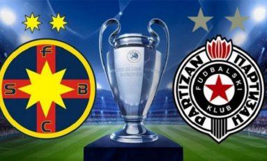 FC Steaua, egal cu Partizan Belgrad în turul 3 preliminar al Ligii Campionilor