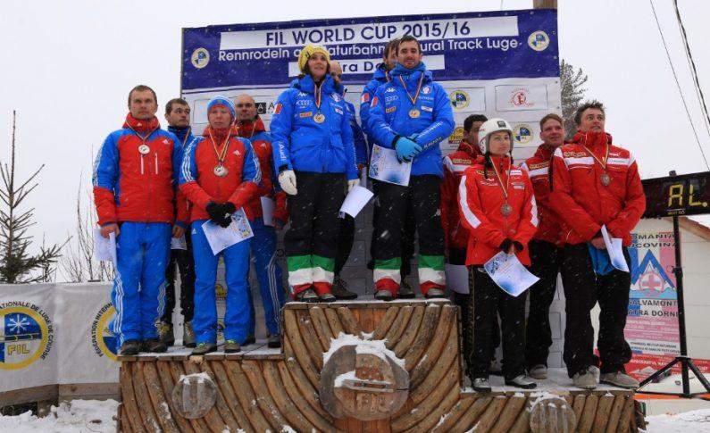 Cvadruplă italiană la etapa de Cupă Mondială la sanie pe piste naturale de la Vatra Dornei
