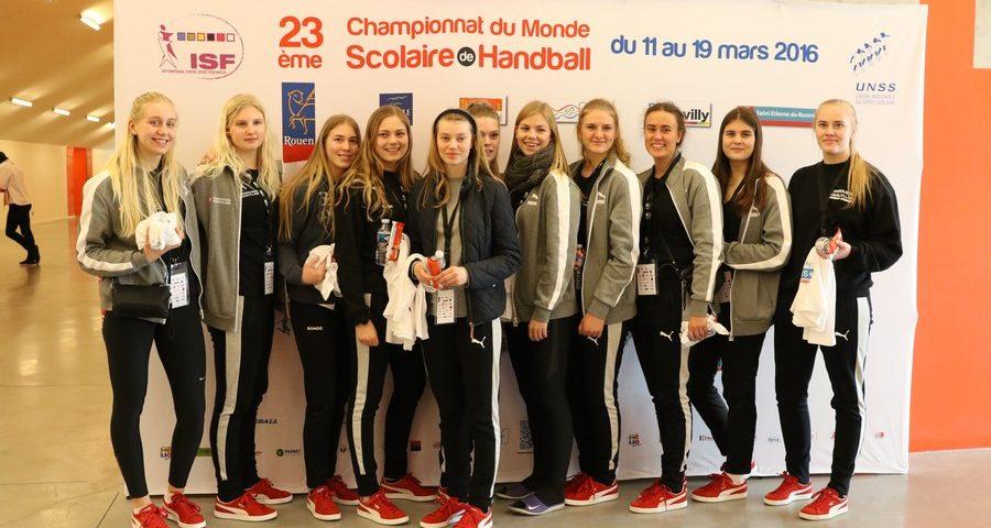Romania vs Danemarca in sferturile de finala a Campionatului Mondial Scolar de Handbal