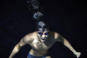 ning in swimming pool