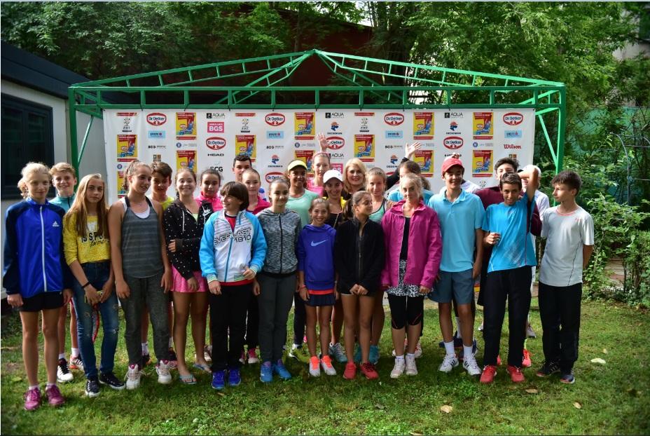 """Liana Stanciu a venit """"să viseze"""" alături de copiii de la Dr. Oetker Junior Trophy"""