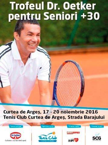 Trofeul pentru seniori +30 la Tenis Club din Curtea de Argeș