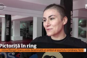 Observator TV: Cristiana Mongol Stancu, pictoriţă şi campioană mondială la kick-boxing