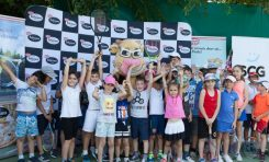 Demonstraţie de tenis la Dr. Oetker Junior Trophy