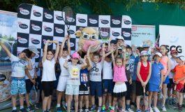 Demonstraţie de tenis la Dr. Oetker Junior Trophy