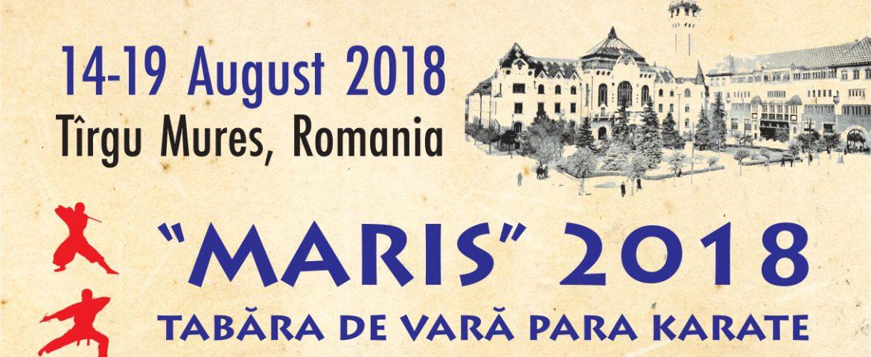 "TABĂRA DE VARĂ PARA KARATE  – EDITIA A 2-A – ""MARIS"" 2018 –"