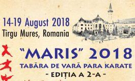 "TABĂRA DE VARĂ PARA KARATE  - EDITIA A 2-A - ""MARIS"" 2018 -"