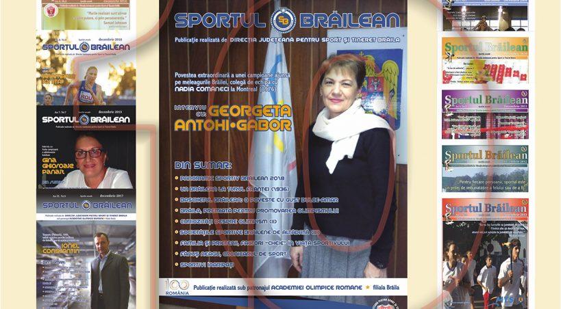 Numărul 10 al revistei Sportul Brăilean va fi lansat în luna ianuarie 2019