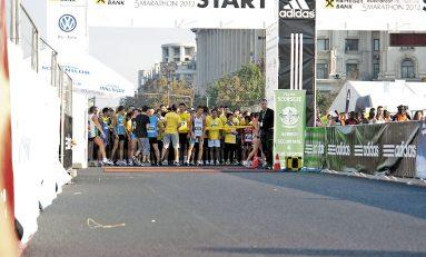O porţie de alergare pe străzile Capitalei