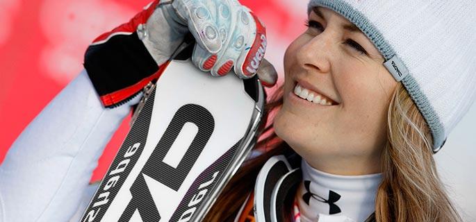 Americanca Lindsey Vonn, la victoria cu numărul 59