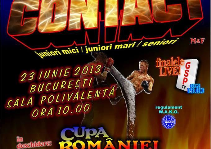 Intrare liberă la Campionatul Național de Kickboxing Full-Contact – ediția 2013