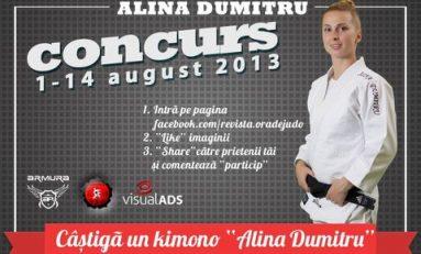 """Ora de Judo vă oferă un kimono """"Alina Dumitru"""""""