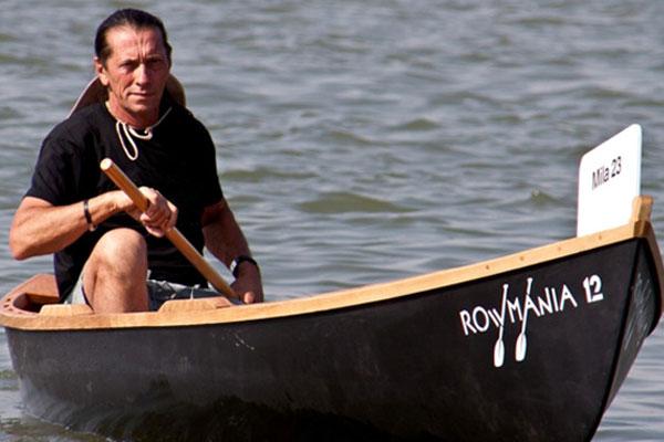 Ivan Patzaichin a oferit o demonstraţie de vâslit în canotcă la Galaţi, pe apele Dunării