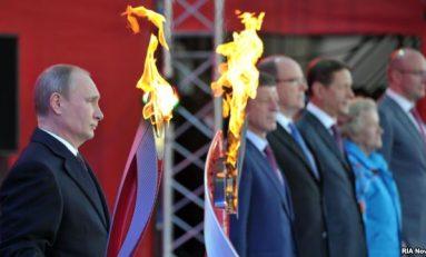 Flacăra olimpică a plecat spre Polul Nord