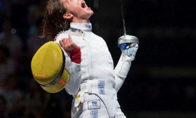 Echipa feminină de spadă a României, medaliată cu bronz la Cupa Mondială de la Barcelona