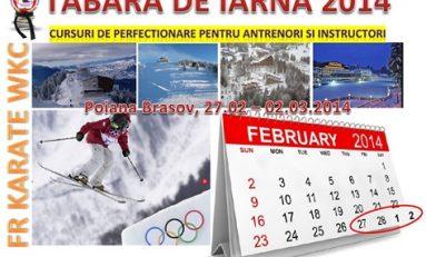 Începe tabăra de iarnă a Federaţiei Române de Karate WKC!