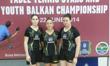 Tenis de masă: Patru medalii pentru echipele române de juniori şi cadeţi la Campionatele Balcanice
