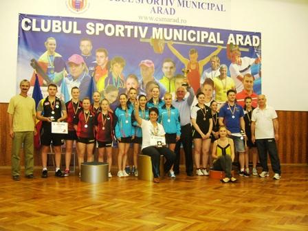 ACS Dumbrăviţa – campioana la tenis de masă pe echipe, la fete. Ultimele rezultate din C.N. pe echipe