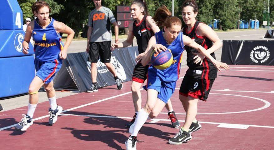 Echipele de baschet 3×3 ale României s-au calificat în optimile CM de la Moscova
