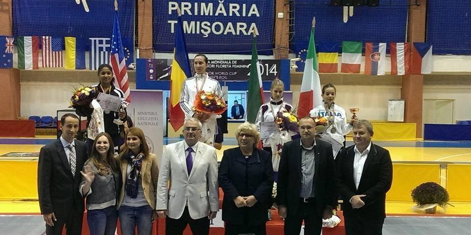 Mălina Călugăreanu, campioana de la Cupa României la floretă feminin juniori