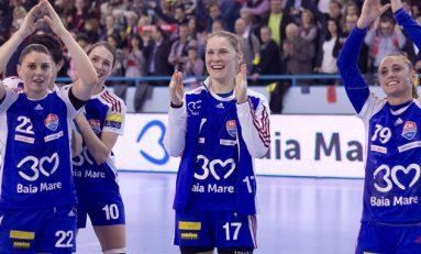 HCM Baia Mare câștigă la două goluri diferență primul meci din sferturile Ligii Campionilor cu Dinamo Volgograd