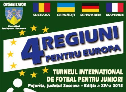 Patru regiuni pentru Europa, competiție fotbalistică la… Pojorîta-Suceava