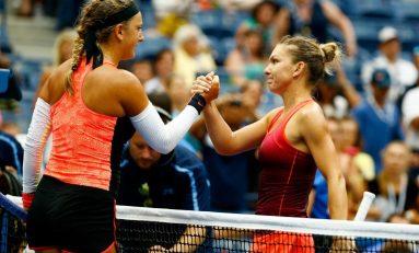 Premiere pentru Simona Halep: victorie în fața Viktoriei Azarenka și calificarea în semifinalele US Open