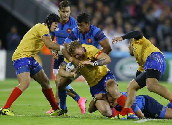 Înfrângere la scor în fața Franței, la Cupa Mondială de rugby