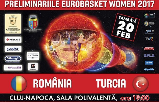 Nationala feminina a Romaniei incepe pregatirile la Cluj-Napoca pentru meciul cu Turcia