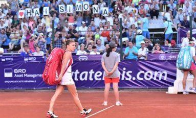 Simona Halep, susţinută de fani la BRD Bucharest Open