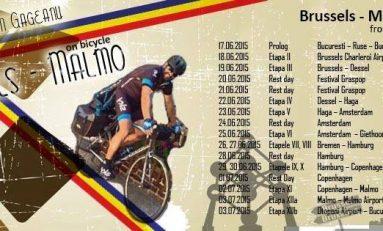 Turul Italiei, noua destinație a românului ce străbate Europa pe bicicletă