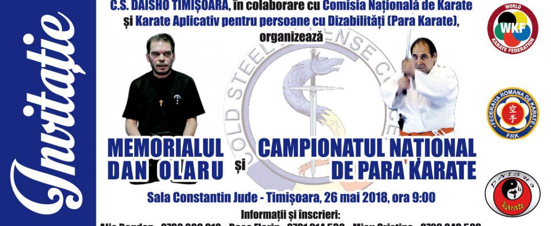 """Memorialul International """"DAN OLARU"""" și Campionatul Național Para-Karate – Ediţia a III-a"""