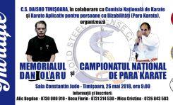 """Memorialul International """"DAN OLARU"""" și Campionatul Național Para-Karate - Ediţia a III-a"""