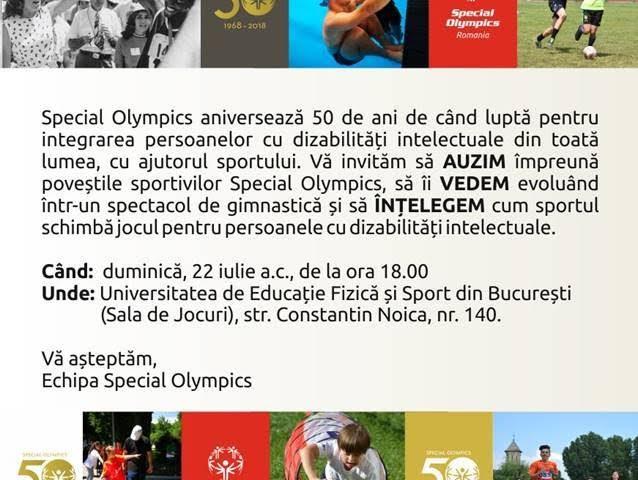 Special Olympics, la 50 de ani