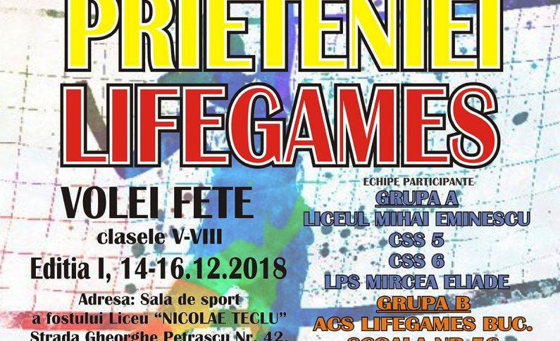 """Cupa """"Prieteniei"""" Lifegames, ediţia I"""