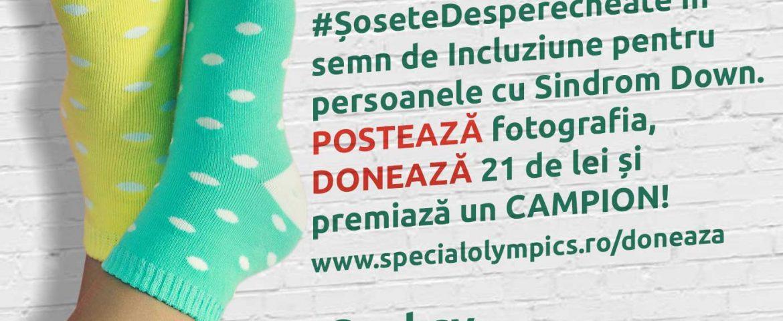 Poarta #SoseteDesperecheate de Ziua Internationala a Sindromului Down (duminica 21 martie)