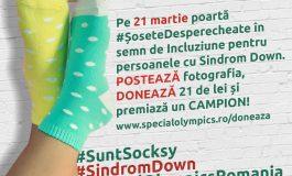 Peste 10.000 de persoane au fost #Socksy De Ziua Internațională a Sindromului Down